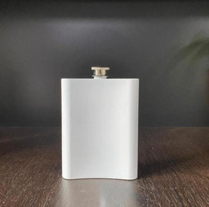 Flasco de sublimación en blanco Frasco de cadera de acero inoxidable Botella de agua de doble pared DIY Amante Tumblers al aire libre Drinkware 8oz Sea Envío OOB2760