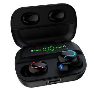 Q82 LED sem fio Bluetooth 5.0 fones de ouvido TWS Handfree Music Headsets estéreo Earbud Fone de ouvido com microfone carregamento
