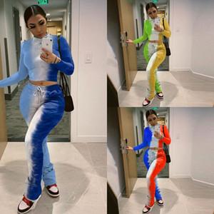 SJ7V mulheres roupas terno manga comprida sweatsuits hoodies + calças de perna de largura 2 peças jogging outfits 3849 tracksuit s-2xl queda de inverno sets pullove