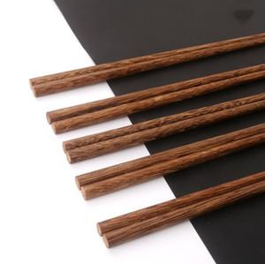 Baguettes en bois naturel sans Laque Cire Arts de la table Vaisselle chinoise style classique réutilisable naturel Sushi Chopsticks outil KKB2677