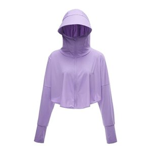UV Protection Sun Hoodie for Women UPF 50+ Sun-Proof Jacket with Zipper Hooded Mask for Running Cycling Fishing Outdoor Jackets