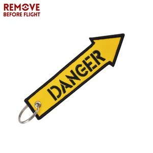 Remove Before Flight Fashion Jewelry Key Chain Keychain for Motorcycles and Cars Key Tag Cool Embroidery Fobs OEM Keychain