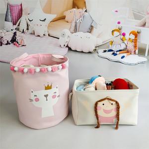 Laundry Basket Baby Kids Toys Storage Barrel Dirty Clothes Storage Bucket Laundry Baskets Toys Organizer for Girl Opbergmand LJ201204