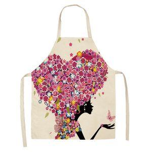 DIY Lady Home Pinafore Cuisine Coton Linge Tabliers lavables Fleurs Vélo Vélo Imprimé Daidle Dacette Femme Cuisine Accessoires 8 5mya G2