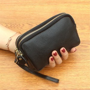 HBP Wholesale genuine leather Holders fashion Organizer wallet bags coin purse Crossbody hand bag key case handbag high quality