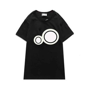 2021ss New Hot Stylist Hommes T-shirts Homme Summer Casual Mela Chemise Mode Femmes Tee High Street Tendance Top S-2XL 2Couleurs