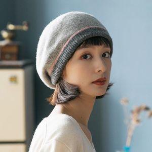 Beanie Skull Caps Wool Women's Autumn And Winter Woolen Korean Fashion Warm Knitted Beanies For Ladies