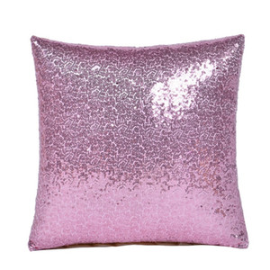 Echootime Mermaid sequins Pillow cases DIY Two Tone Glitter Sequins Pillow Case Covers Magic Reversible Pillowslip Sofa 177 K2