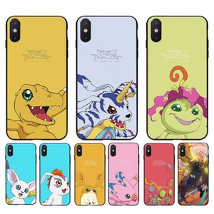 FHNBLJ Japanese Anime Digimon Black Cell Phone Case for iphone 11 Pro Max X XS MAX 6 6s 7 8 plus 5 5S