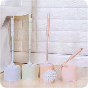 Toilet Brush Set with Base Creative Household Cleaning Tool Plastic Toilet Cleaning Scrub Home Hotel Bathroom Brush1