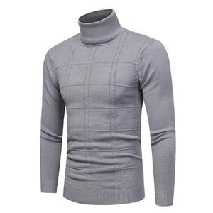 Весна Осень Мужчины свитер Streetwear зима Мужчины Casual Пуловер с длинным рукавом Мужская одежда Turtelneck свитер мужчин