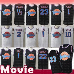 23 Michael NCAA 1 Hatalar Film Uzay Jam Tune Squad Basketbol Jersey 22 Bill Murray 10 Lola 2 D.Duck! TAZ 1/3 Tweety Formalar