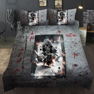 Quilt Cover Sets 2021 Fashion Playing Card Series Bedding 3D Digital Printing Bed Duvet Quilt Cover Bedding Set
