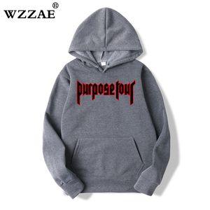 WZZAE Justin Bieber Hip Hop Skate Homens Hoodie Justin Bieber Purpose Turismo Trasher Homens hoodies camisolas 2020 New ArriveX1014
