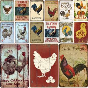 2021 забавная ферма цыпленок металлический металл металлический старинный значок оловянный шнурок потертый шик декор металлические знаки винтаж винтаж винтажный металлический знак украшения плакат