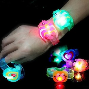 With Novelty Children Luminous Watch Strap New LED Lights Creative Bracelet Watch Flash Wrist Luminous Toys Kid Gifts Glow Party