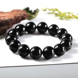 16mm Obsidian Bracelet gem bracelet Obsidian bracelet for men