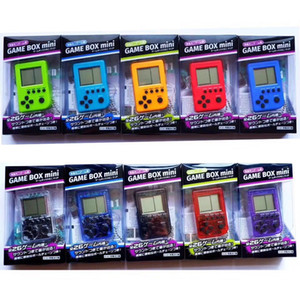 Mini Klasik Tetris El Oyun Konsolu Çocuk Oyunları Makinası Retro Nostaljik Oyun Makinesi Anahtarlık Oyuncak Konsol