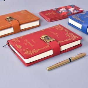 Notepads Contraseña Lock Multifunción Cuaderno A5 Retro Diario Creativo Girl 1pcs