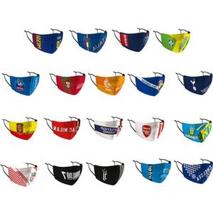 2020 Fashion Real Football Club di Calcio Maschera maschere di protezione riutilizzabile Viso Bocca Facemask Con antipolvere PM2.5