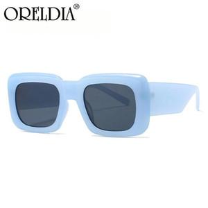 Oreldia Moda Square Sunglasses Mulheres Marca Designer Vintage Luxo Luxo Feminino Sol Óculos Tons UV400 Homens Retro Tending Eyewear