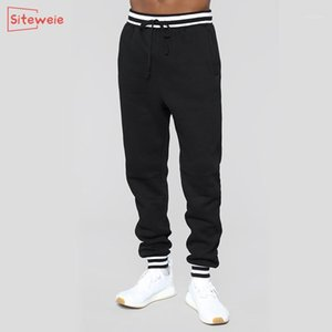 SITEWEIE Fashion Jogging Pants Men Sweatpants Sports Casual Fitness Trousers Antumn Winter Training Runing Loose Long Pants G5401