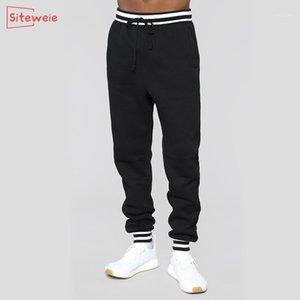 SiteWeie Fashion Jotging Pantalones Hombres Sweypants Deportes Casual Fitness Pantalones Antigumn Entrenamiento de invierno Oriándose Pantalones largos sueltos G5401