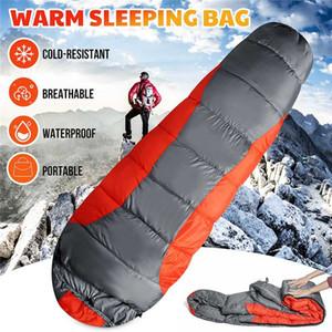 Waterproof Hammock Sleeping Bag Outdoor Camping Travel Spliced Single Person Winter Warm Envelope Sleeping Bag with Storage
