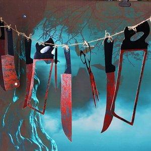 decorat süs sahne asılı bayrak bayrak dekoratif hüner korku bloodbloodstring KTV KTV bar süsler asılı 9LWMC Halloween süsler çubuğu