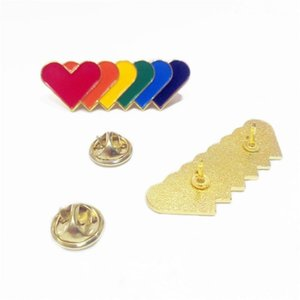 Badge Long Strip Badge Love Heart Rainbow Brooches Butterfly Button Cooking Paint Vernice Badges Badges Nuovo arrivo 1 5BTA L1