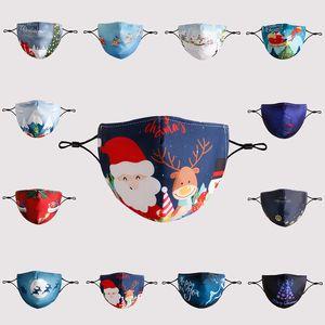 2020 Конструктор маска для взрослого Мультфильма моющегося Рождества отпечатанных Санта бороды маска РМ2,5 пыли дымка маски может быть вставлена с фильтром