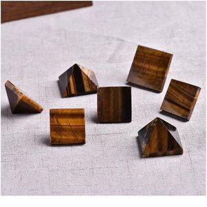 1 PC Natural Tiger Eye Pyramide Crystal Cristal Naturel Pierre Naturel Minéral Cyanite Cadeau Accueil Feng Shui Décoration Free Qylaab