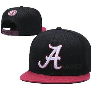 Atacado NCAA Alabama Crimson Tide Caps ajustável Hip Chapéus snapbacks faculdade de moda Hop Chapeaus bordado Logos gratuito a8 transporte