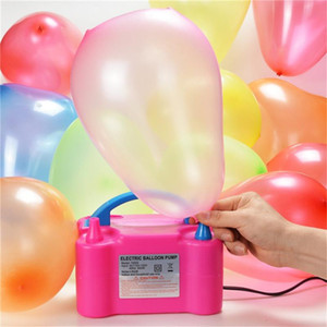 High Voltage Double Hole Inflatable Electric Balloon Pump Air Balloon Pump Electric Inflator Portable Air Blower
