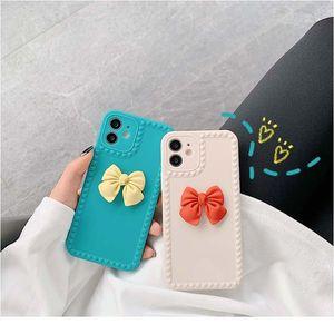 Telefon Kılıfı iPhone 11 12Pro SE2 7 8 6 S Artı X XR XS Max Aşk Kalp Ilmek Ilgili Şeker Renk WMTAFQ