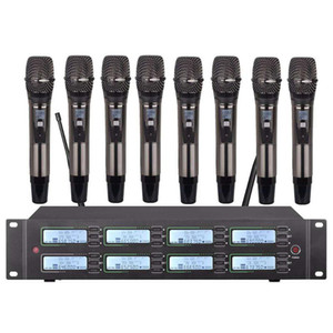 Professional UHF wireless microphone system handheld microphone, used for church school outdoor activities stage microphone