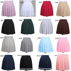 Bayan Etekler Bayan Giyim Kawaii Koleji Okul Üniforma Temel Çok Renkli Etek Kadın Kore Harajuku Giyim Kadınlar için