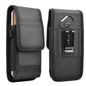 Best-selling nylon mobile phone holster for iPhone 7 8 11 12 Pro Max Mini Handbag Wallet with Belt Loop Strap Card Holder