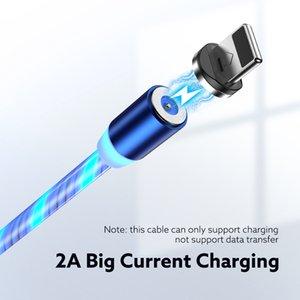 FLOVEME 1M Magnetic Charge USB кабель C Измельчитель Light USB Type C кабель быстрой зарядки LED Magnetic кабель для iPhone 11 Xiaomi ми