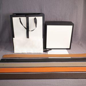 El hombre caliente de la manera Mujer de la correa Las correas de cuero de color suaves 2 hebilla de cinturón ancho de 38 mm de la venta caliente de calidad superior con la caja