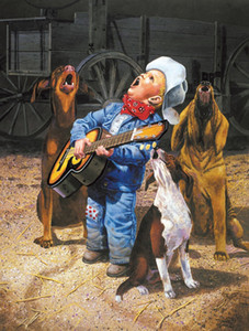 JMINE Div 5D Guitar Dog BOY Singers cowboys Full Diamond Painting cross stitch kits art Scenic 3D paint by diamonds