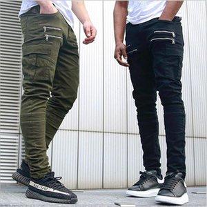 Autumn Men Cargo Hip Hop Harem Joggers New Male Trousers Mens Solid Multipocket Pants Skinny Fit Sweatpants