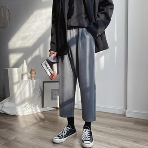 M-5XL Брюки Мужчины Твердые Повседневный Сыпучие Плюс Размер пят Мужские Sweatpants Harajuku Мужчины высокого качества Прямые брюки XXXXXL