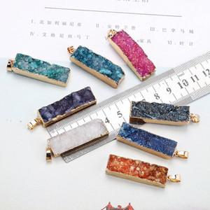 Природный камень агата Подвески Подвески натурального камня кристалл очарование кулон кристалл кулон для изготовления ювелирных изделий ожерелья поделок девушки Верхнего качества