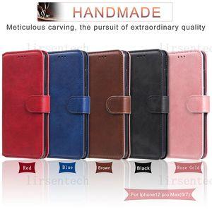 Para iPhone 12 Mini 11 Pro Max Personalizado Cabelo de Couro Slim Case Caixa Flip Slots para Samsung S20 Fe A71 A42 Huawei Moto Sony