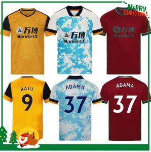 20 20 Wölfe Fußball Jersey 2020 2021 Home Yellow J Moutinho Raul Neves Poddence Football Hemden Wölfe Fußball Uniform Männer + Kinder Kit