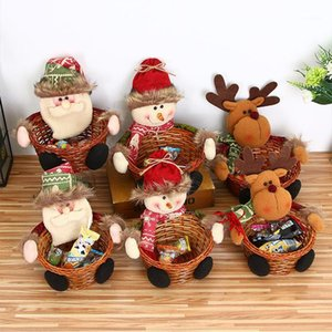 Décorations de Noël Candy Stockage Panier Décoration Santa Claus Snack Cadeau pour enfants pour la maison C10251