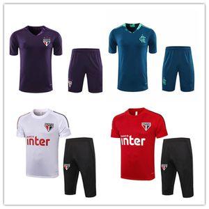 20 21 CR Flamengo Fussball Jerseys Kurzarm Training Anzug 2020 2021 Sao Paulo Flamenco MAILLOT DE Football Hemd 3/4 Hosen Trainingsanzug