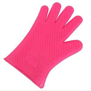 Luvas Luvas de silicone resistentes à temperatura Luvas Anti-Hot Microondas Luvas Reusável Isolamento Glove Cozinha Scrubber Acessórios EWD26