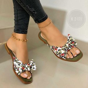 Chaussures Chaussons Femme Pantoufles Pantoufles Low Pantofle Butterfly-Knot Summer 2021 Rome Butterfly-Knot Tissu Talons Hoof Basic Sweet